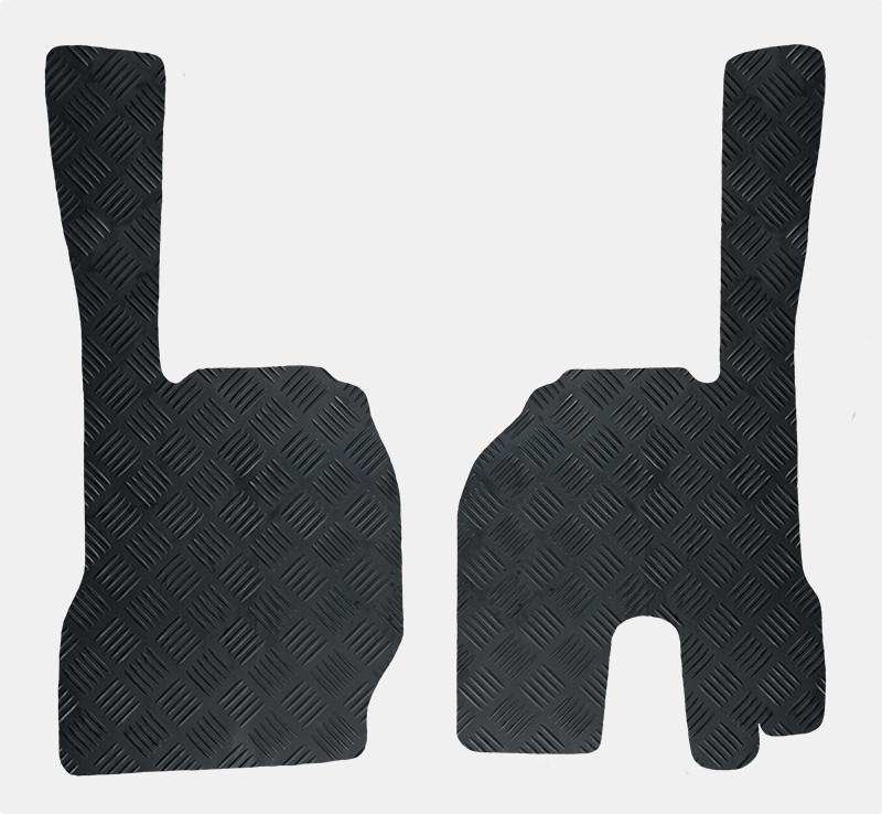 Lastbilmåtter i gummi - sæt med 2 skrædderskårne måtter