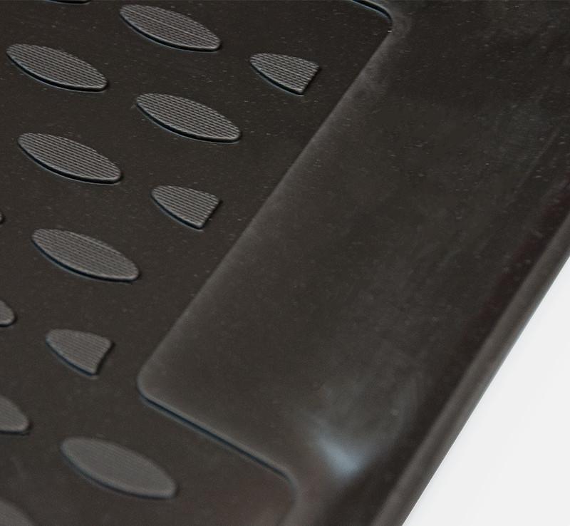 Autobakker i gummi - sæt med 4 skrædderskårne bakker