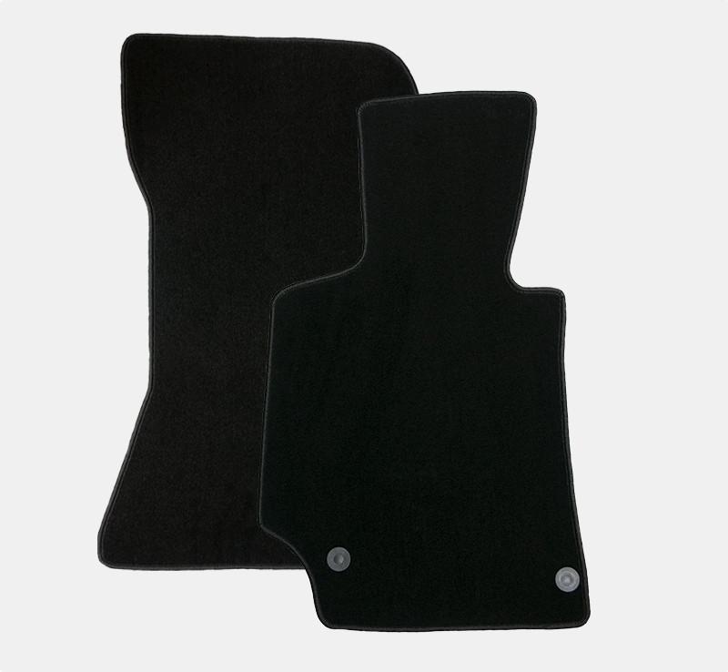 Automåtter i luksusvelour - sæt med 2 skræddersyede måtter